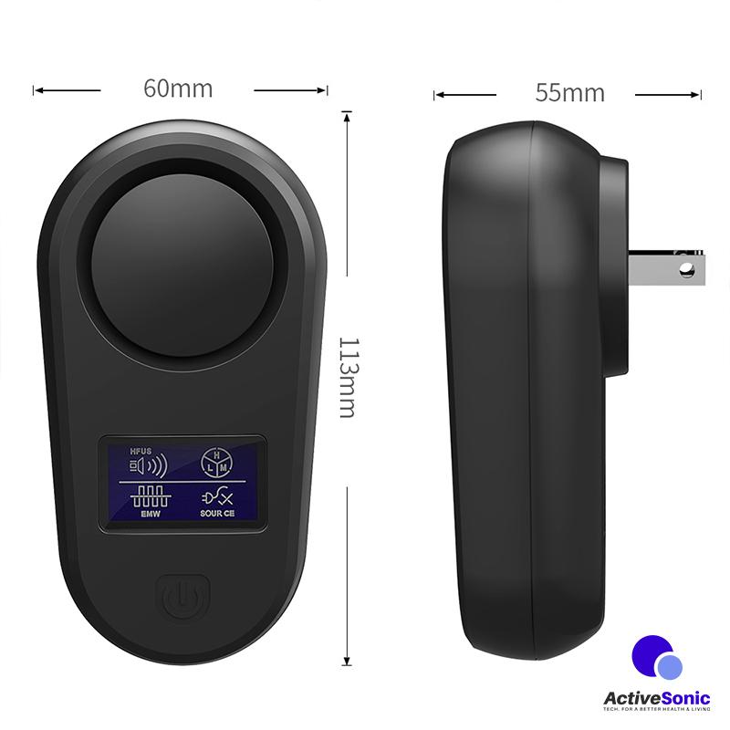 ขนาด อุปกรณ์ไล่หนู ไฟฟ้า ไล่แมลง Active Sonic APR-102